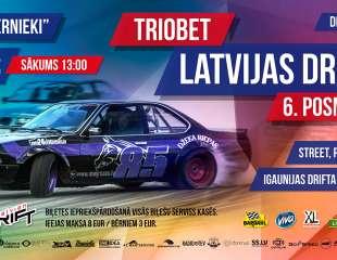 Biķernieku standarta drifta konfigurācijā atgriežas arī Triobet Latvijas Drifta kauss